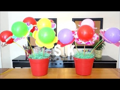 Balloon Flower Bouquet Centerpiece to do with Kids | DIY Crafts And Activities For Kids