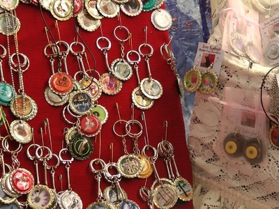 Bottle Cap Crafts made into Jewellery
