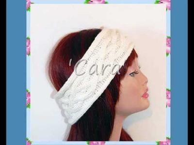 Cara Cable Ear Warmer Head Wrap Head Band Teen Ladies Knitting Pattern