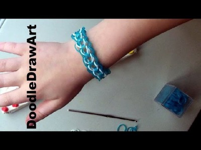Craft:  Make a Dragon Scale. Chain Mail Elastic Loom Bracelet  - Easy, step by step