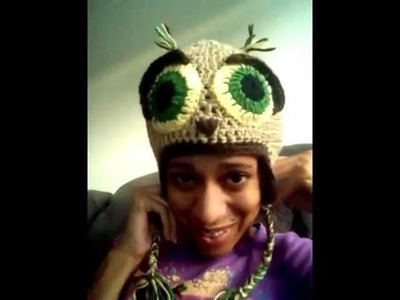 Crochet: bobwilson123 owl hat and ovw tartan bag