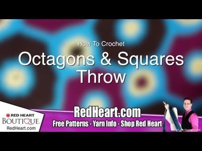 Crochet Octagon & Squares Throw Tutorial: Video 2