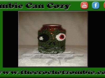 Crochet Zombie Can Cozie Tutorial