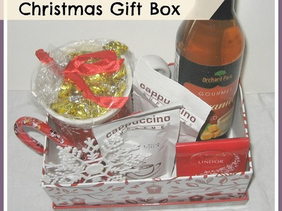 DIY CHRISTMAS GIFT IDEAS.How to make Coffee Lovers Christmas Gift  Boxes from the dollar Store