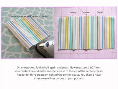 DIY Crayon Wallet Sewing Tutorial