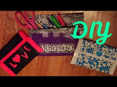 DIY Duct Tape Pencil Pouch - Back to School -HowToByJordan