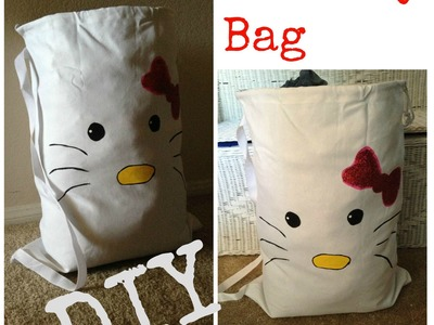 (DIY) Hello Kitty (Inspired) Laundry Bag