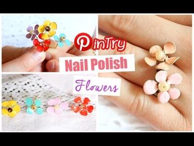 DIY Nail Polish Flowers   PINTRY