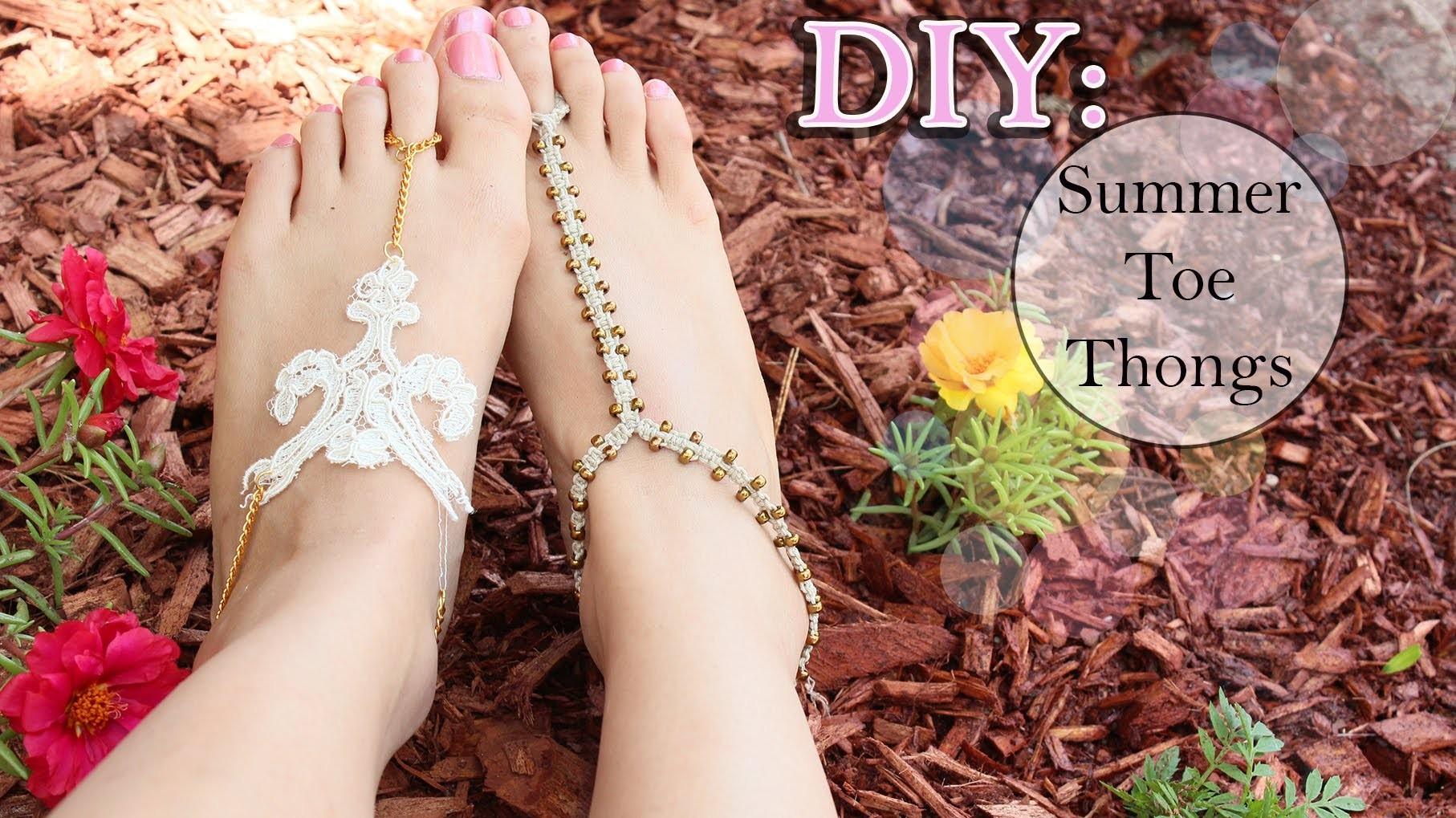 DIY: ☀ Summer Toe Thongs {Lace & Macramé}