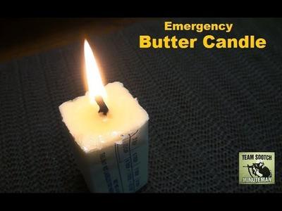 DIY Survival Butter Candle