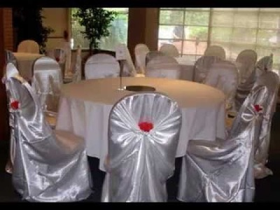DIY Wedding chair covers decorating ideas