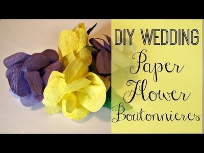 DIY Wedding: Paper Flower Boutonnieres