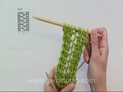 DROPS Knitting Tutorial: How to knit lace pattern in DROPS 139-5 M.4B