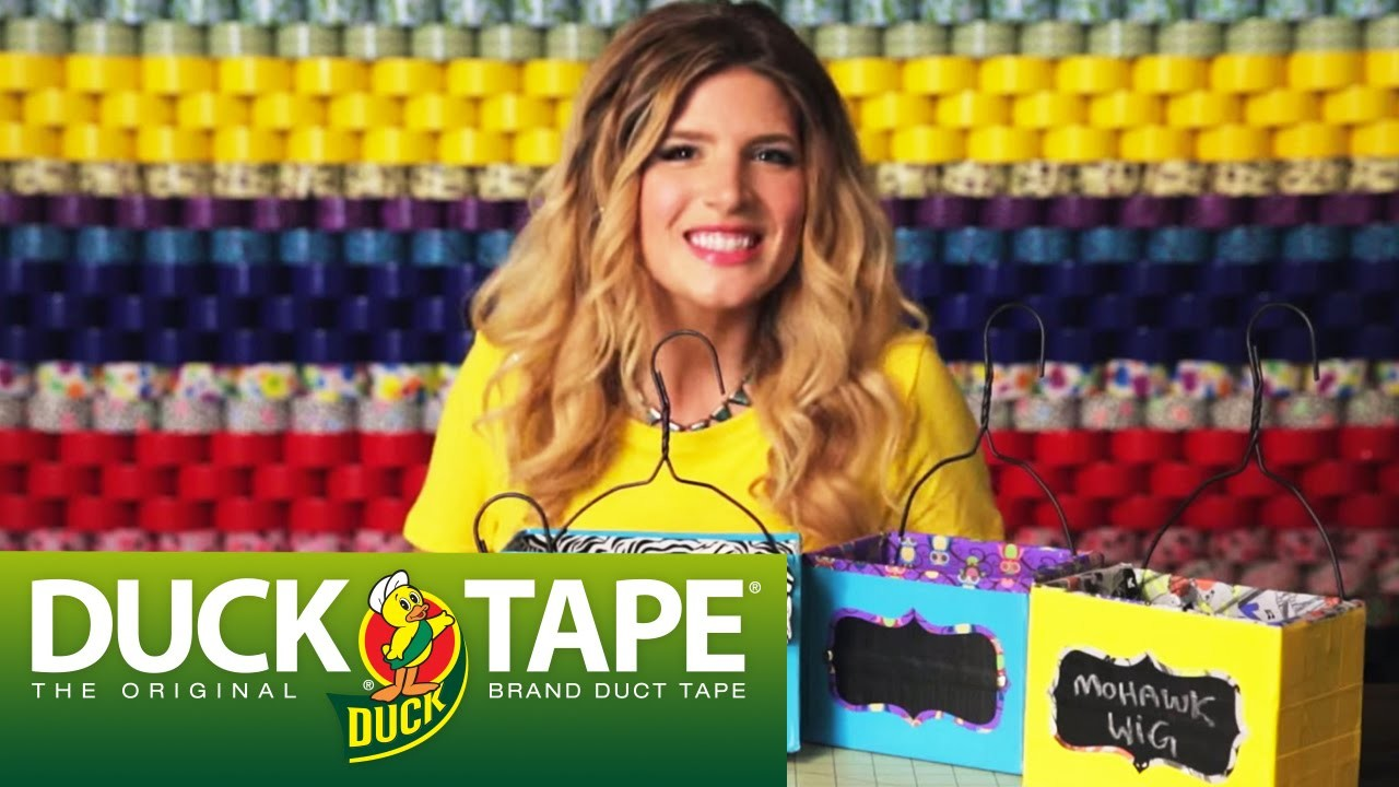 Duck Tape Crafts: How to Make a Hanging Box with Mr.Kate