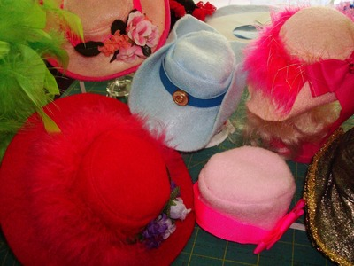 ✂ Easy DIY Mini Top Hats: PillBox Cocktail Hat Fascinators For Dogs.Cats ♡