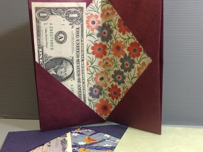Easy Origami Wallet Fits Most Currencies