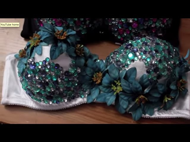 EDC DIY  Flower RhineStone Bra Top