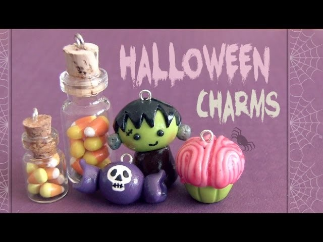 Halloween Charms! Polymer Clay - How To