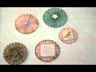 Hand made Vintage Roses and Shabby Chic Rosettes