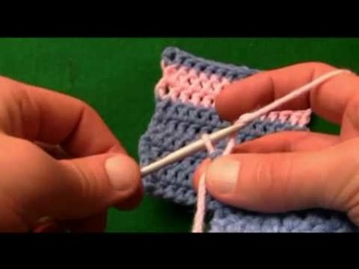 How To Crochet Color Change Without Knots-Left Handed