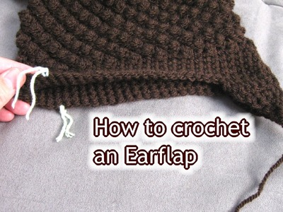 How to Crochet Ear Flaps onto a Hat - Left Handed Tutorial
