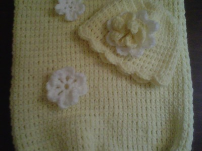 How to #crochetbabycocoon.-  Easy level  - Cocoon de bebe en crochet