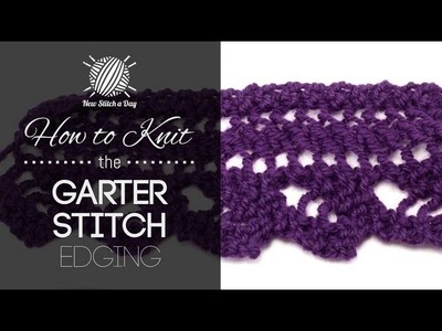How to Knit the Garter Stitch Edging