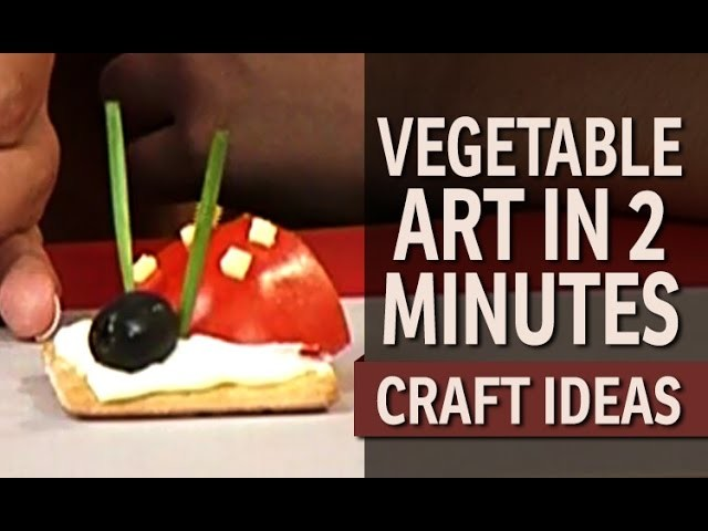 """How to make a cute Vegetable ladybug - """"Art and Craft Ideas"""" (English)"""
