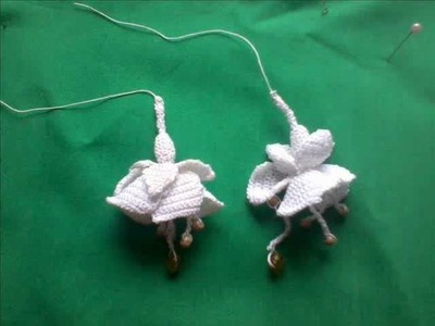 How to make a Fuchsia in Irish Crochet Lace