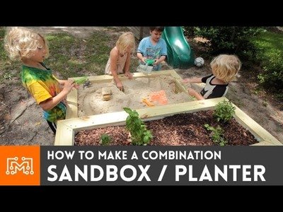 How to make a sandbox.planter combo