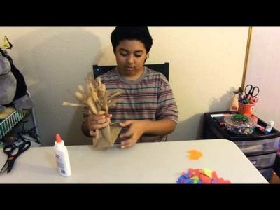 How to make a tree out of a paper bag