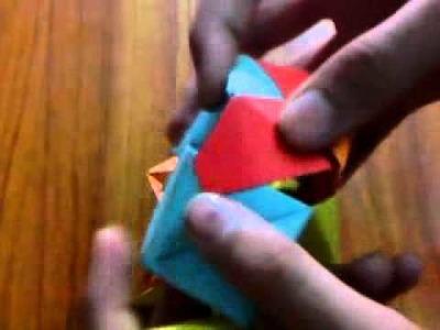 How To Make An Modular Origami Polyhedon (Sonobe Small Triambic Icosahedron) (SSTI)