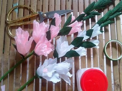 [How to make] Gladiolus paper flower tutorial - Hướng dẫn làm hoa lay ơn từ giấy nhún