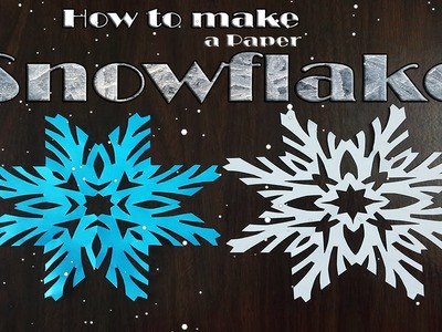 How to make paper snowflakes very simple (Christmas decorations)  DIY paper crafts