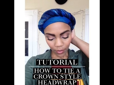 How To Tie A  Head Wrap.Turban For Short Natural Hair