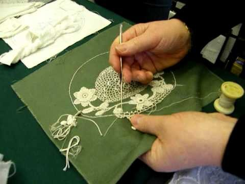 Irish Crochet Lace Demonstration by Nora Finnegan