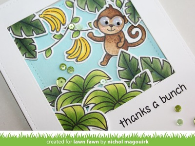 LAWN FAWN + SCRAPBOOK ADHESIVES | Thanks A Bunch Card