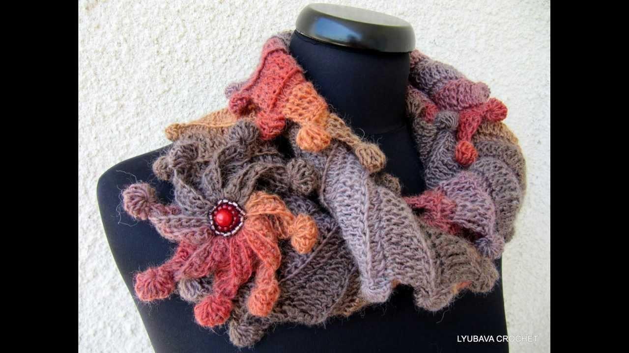 """Lyubava Crochet Pattern 88 Scarf """"Fantasy"""""""