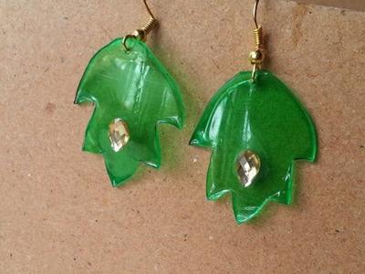 Make Pretty Plastic Bottle Leaf Earrings - DIY Style - Guidecentral