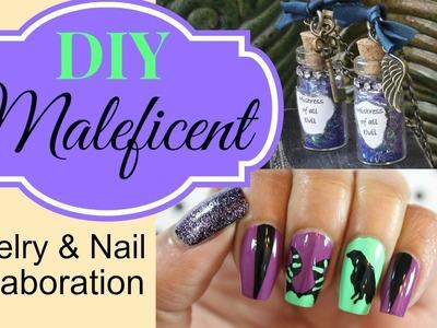 Maleficent Jewelry DIY collab w. Dee 2012 Nails