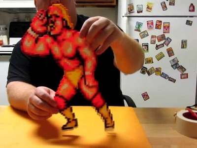 Perler bead masking tape method Part 4