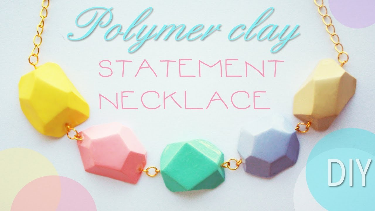 Polymer clay STATEMENT NECKLACE - tutorial