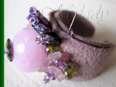 Romantic Bead Embroidered Rings and Free How To Photo Tutorial