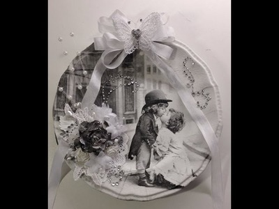 Romantic plate decorated with a napkin and Wild Orchid Crafts beautiful flowers