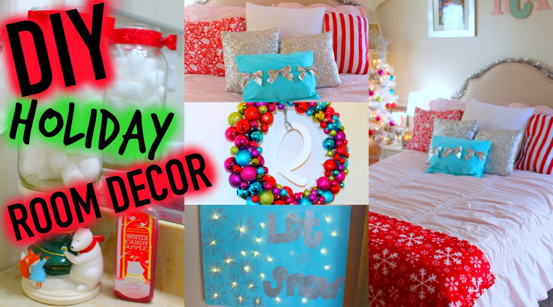 ROOM TOUR. HOLIDAY EDITION + DIY Holiday Room Decor!