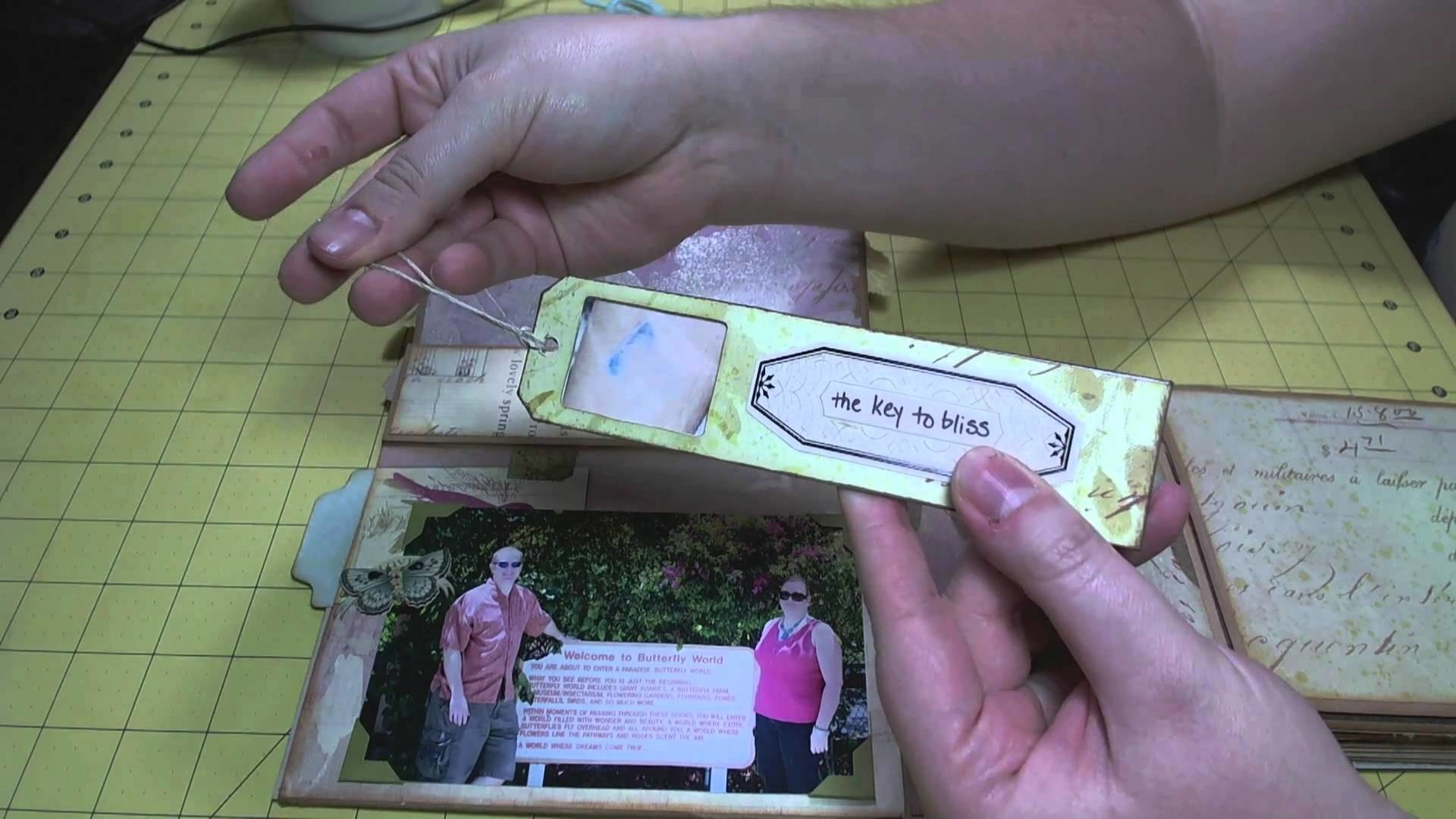 Scrapbook Mini Album: Flora & Fauna Bag #1 WITH PICTURES
