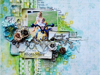 Scrapbooking Mixed Media Layout Tutorial - Once Upon A Sketch October Challenge