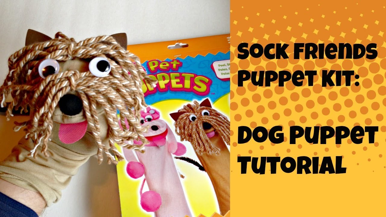 Sock Friends Puppet Kit: Dog Puppet Tutorial