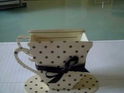 Stampin Up BIG SHOT and Sizzix Tea Cup Die