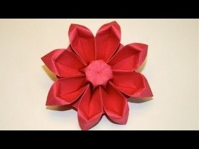 The Art of Paper Folding - How to Make an Origami Flower Gerbera
